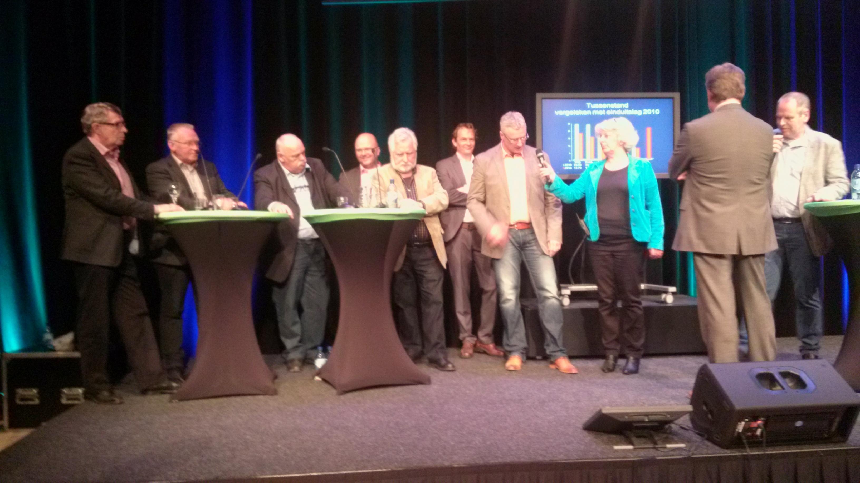 De zes lijsttrekkers in Coevorden.